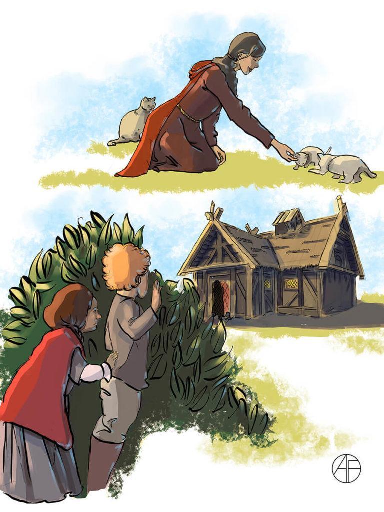 Иллюстрация Иветта